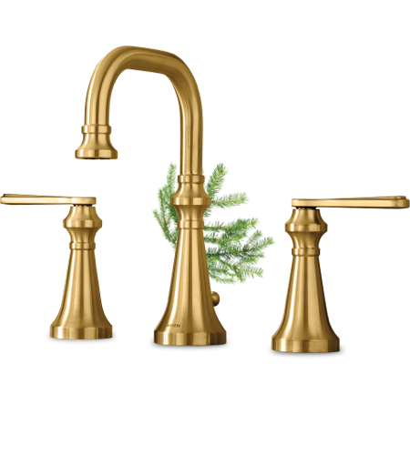 Moen Colinet Brushed Gold Two Handle Faucet