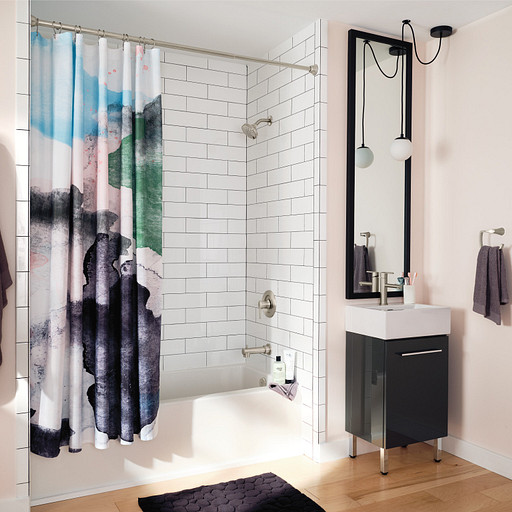 Hang Bathroom Accessories and Mirrors