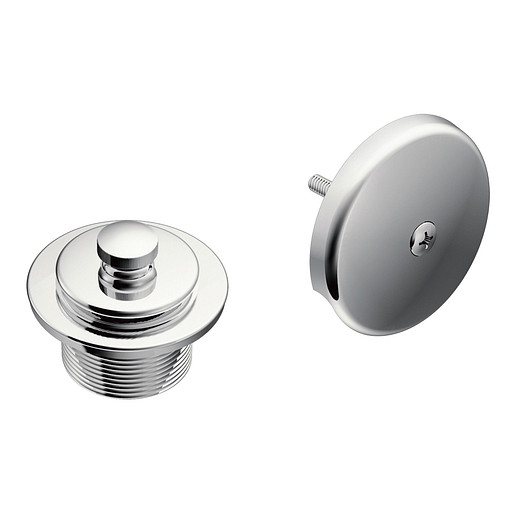 "Moen Chrome Push-N-Lock Tub Drain Kit with 1-1/2"" Threads"