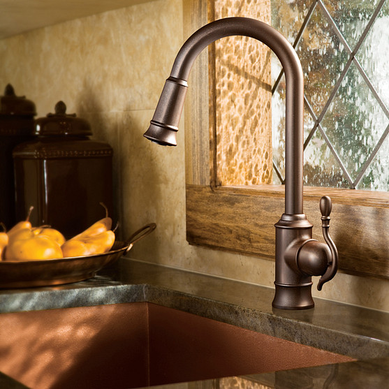 Woodmere Oil Rubbed Bronze Kitchen Faucet
