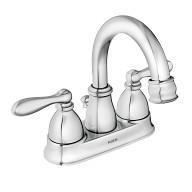 Caldwell Chrome Two-Handle High Arc Bathroom Faucet