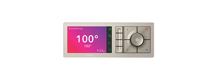 U By Moen Shower Terra Beige 4-Outlet Digital Shower Controller TS3304TB