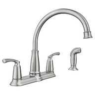 Bexley Spot Resist Stainless Two-Handle High Arc Kitchen Faucet