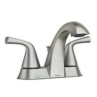 Haber Spot Resist Brushed Nickel Two-Handle Bathroom Faucet