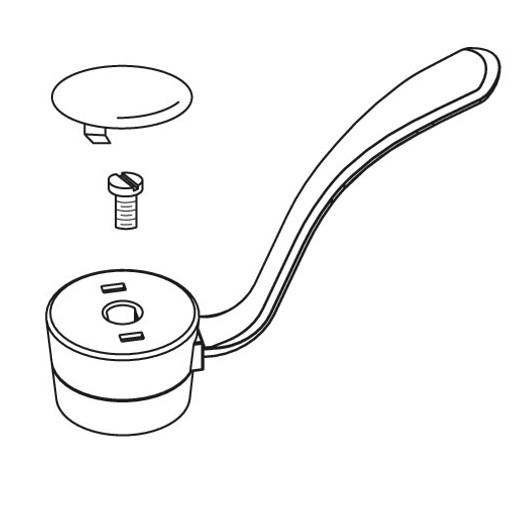 """Commercial Lever Handle Kit, One-Handle Kitchen, 4"""""""