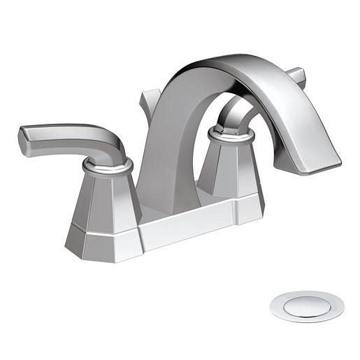Felicity Chrome two-handle high arc bathroom faucet