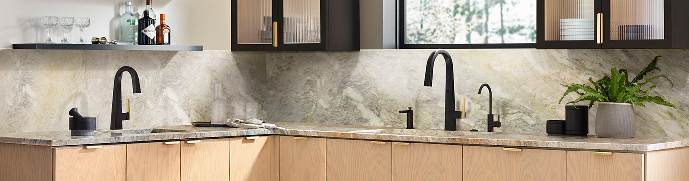 Kitchen with Modern Faucets & Fixtures