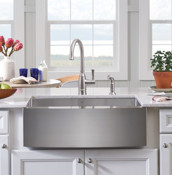 Side View Farmhouse Stainless Steel Kitchen Sink