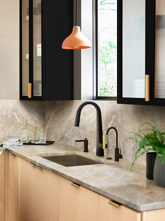 Nio Matte Black One-Handle High Arc Pulldown Kitchen Faucet