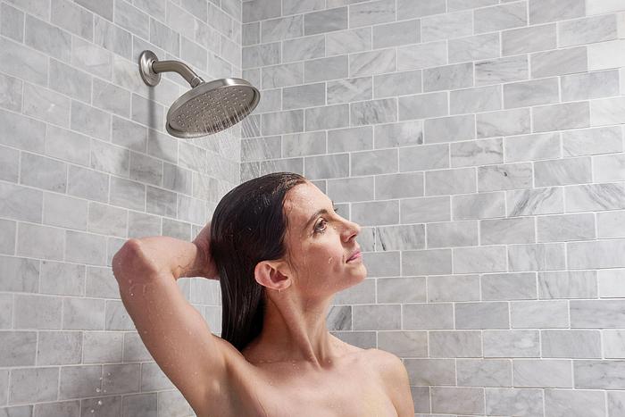Shower with Moen Hamden Showerhead