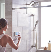 U by Moen and Moen Brushed Nickel Eco-Performance Handshower Handheld Shower