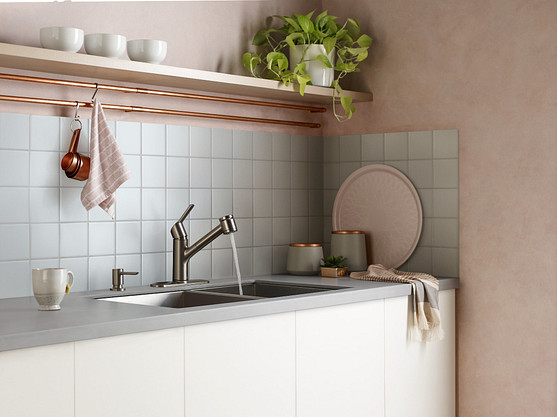 Selecting a finish for your sink and shower faucets