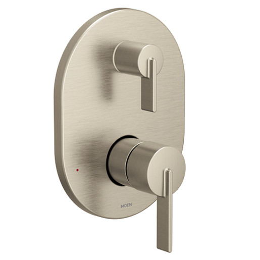 Cia Brushed nickel M-CORE with transfer M-CORE transfer valve trim