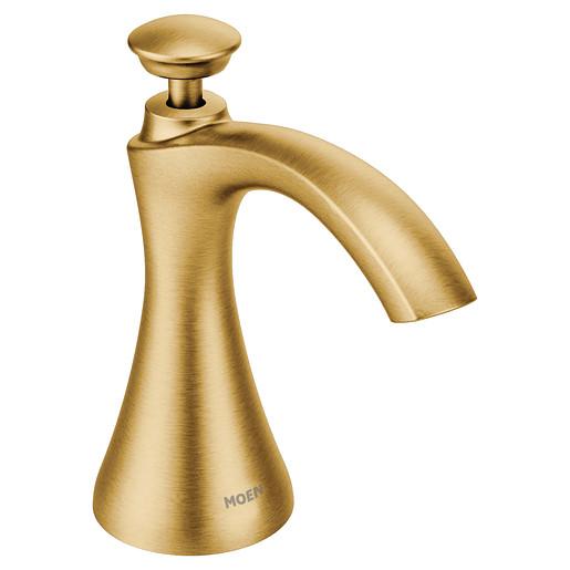 Transitional Soap Dispenser Brushed gold