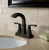Oil Rubbed Bronze Center Set Bath Faucet