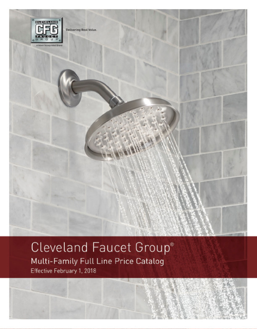 Cleveland Faucet Group Product Price Catalog 2018