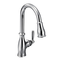 Brantford Chrome One-Handle High Arc Pulldown Kitchen Faucet