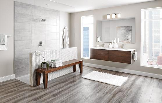 Build a master bath with heated floors