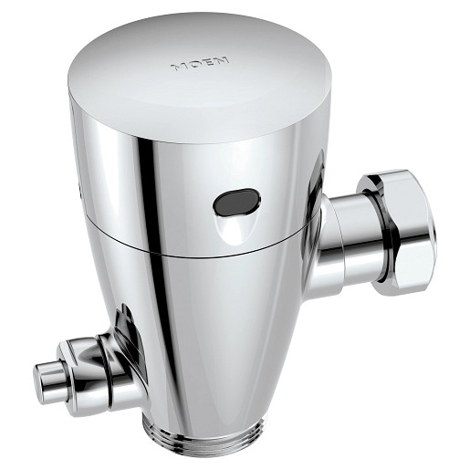 Commercial Chrome urinal battery powered includes stops