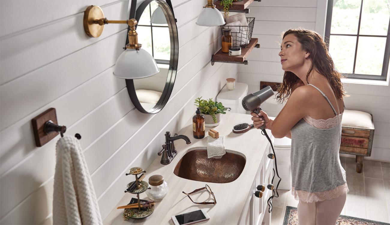 Pièce de robinets de salle de bain Traditional