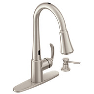 Delaney with MotionSense Spot Resist Stainless One-Handle High Arc Pulldown Kitchen Faucet