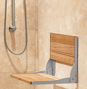 Bathroom Safety Teak Seat