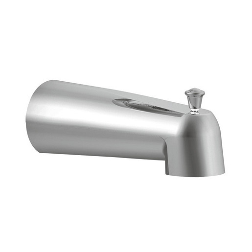"""Moen Chrome 7"""" Tub Spout with 1/2"""" Slip Fit Connection from the Eva Collection (10.25""""L x 2.75""""W x 3.75""""H)"""
