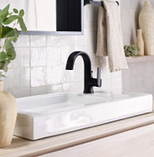 Single Hole Configuration Doux Matte Black Bathroom Faucet