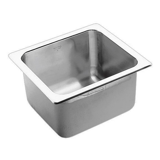 """Commercial 19-3/8"""" x 17-3/8"""" stainless steel 18 gauge single bowl sink"""