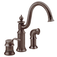 Waterhill Oil Rubbed Bronze One-Handle High Arc Kitchen Faucet