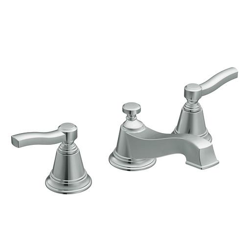 Rothbury Chrome two-handle low arc bathroom faucet