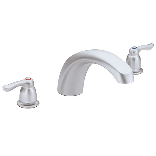 Chateau Brushed chrome Two-Handle Low Arc Roman Tub Faucet