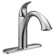 Camerist Chrome One-Handle Low Arc Pullout Kitchen Faucet