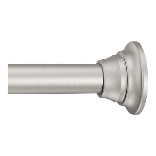 Tension Rod Brushed nickel Shower Rod