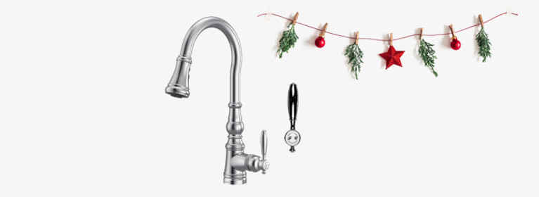 Timeless and full of charm - Weymouth Chrome Kitchen Faucet - S73004