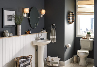 Brecklyn Two-Handle High Arc Bathroom Faucet In Spot Resist Brushed Nickel