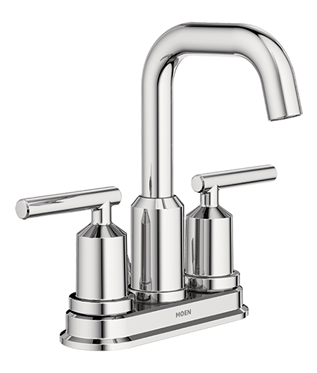 Gibson Chrome Two-Handle High Arc Bathroom Faucet