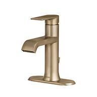 Genta Single-Handle Bathroom Faucet In Bronzed Gold