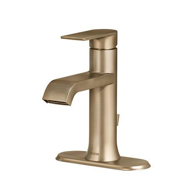 Moen Genta Single Handle Bathroom Faucet in Bronzed Gold