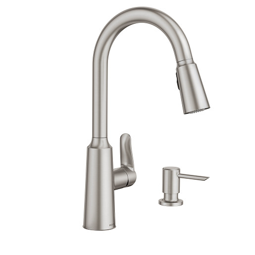 Edwyn Spot Resist Stainless One-Handle High Arc Pulldown Kitchen Faucet