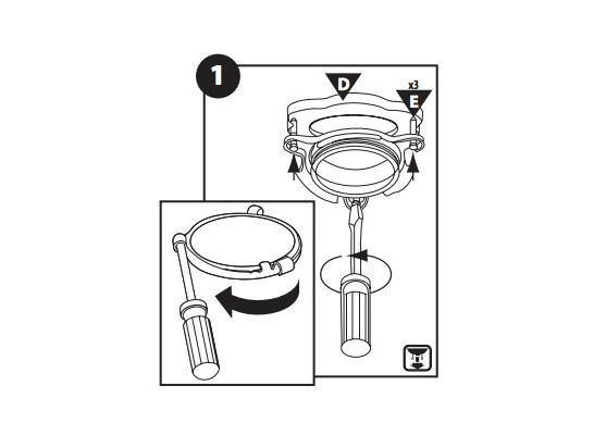 Take apart the mounting assembly of garbage disposal