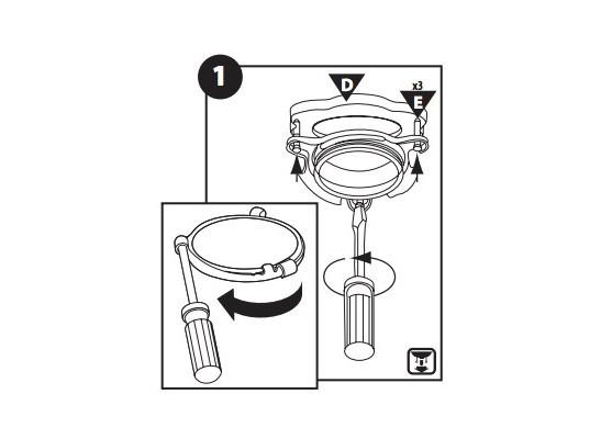 Take apart the mounting assembly of garbage disposal