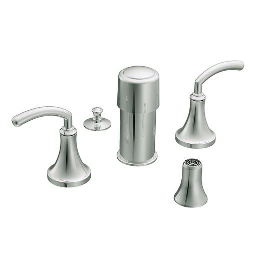 Icon Chrome two-handle bidet faucet