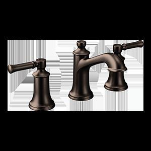 Dartmoor Oil Rubbed Bronze Two-Handle High Arc Bathroom Faucet