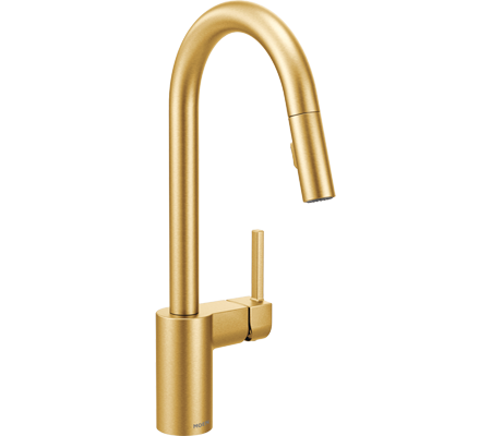 Browse Brushed Gold Kitchen Faucets