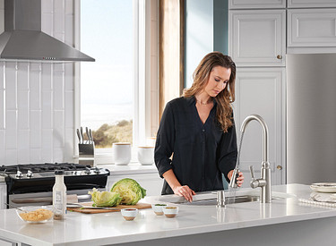 Coretta Pull-Down Kitchen Faucet With Power Boost In Spot Resist Stainless 87997SRS