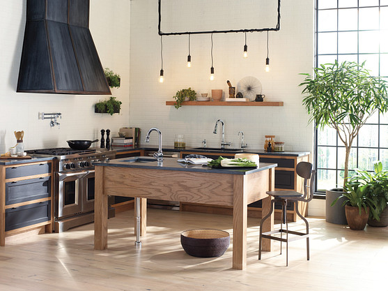 The kitchen island is a must-have for any kitchen