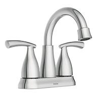 Essie Chrome Two-Handle High Arc Bathroom Faucet