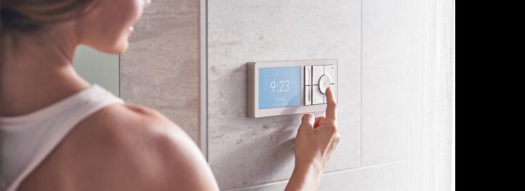U By Moen Shower Terra Beige 2-Outlet Digital Shower Controller TS3302TB