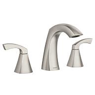 Lindor Spot Resist Brushed Nickel Two-Handle High Arc Bathroom Faucet